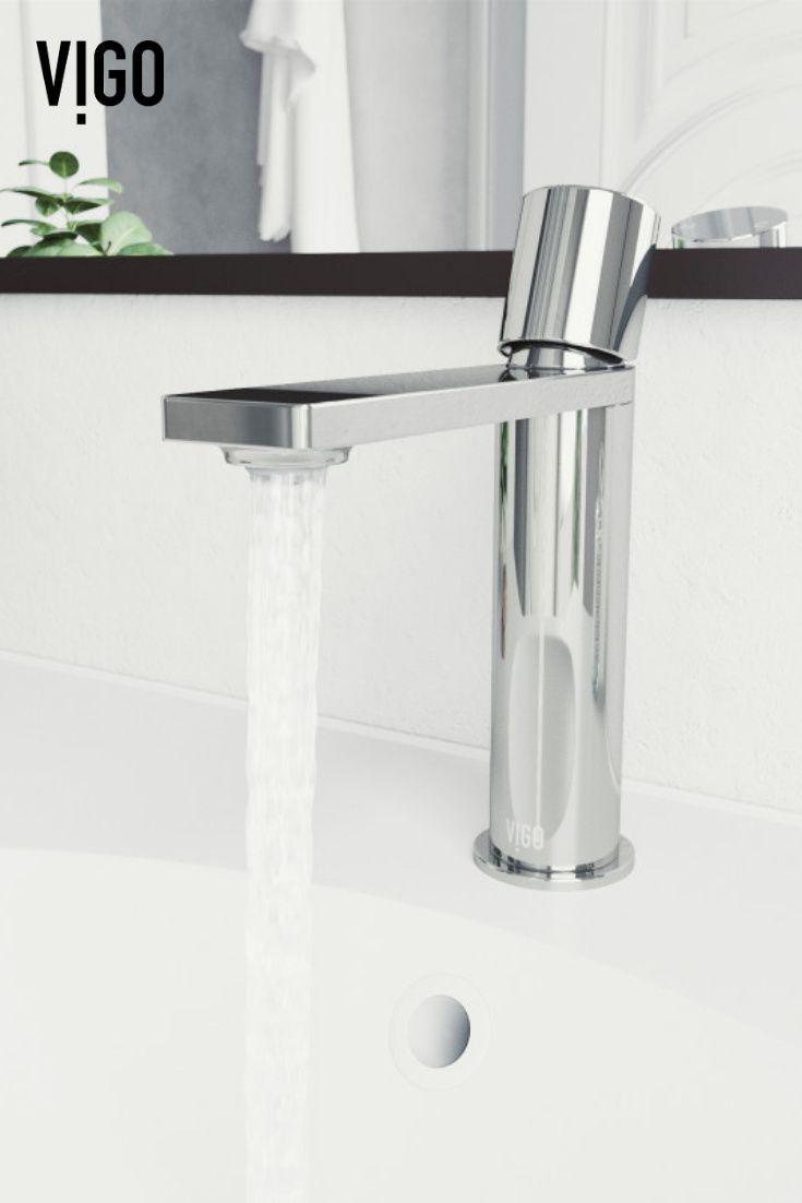 Vigo Halsey Single Hole Bathroom Faucet In Chrome In 2021 Industrial Bathroom Design Modern Style Bathroom Single Hole Bathroom Faucet [ 1102 x 735 Pixel ]