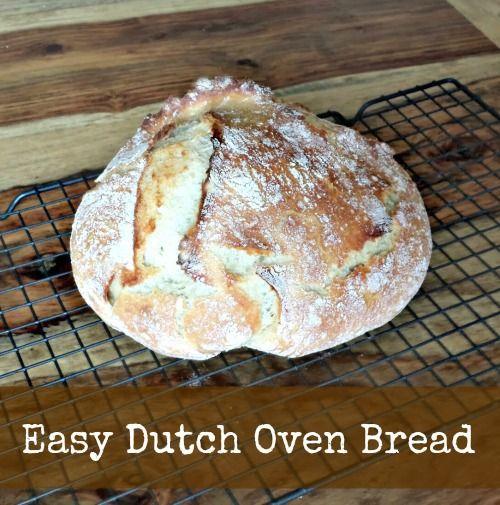 Easy Dutch Oven Bread Recipe #bread #recipe