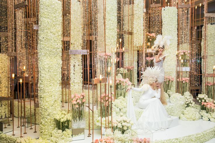 Stunning installation by Flowers Tme with the Famous Russian designer @mariakamenskaya for the Wedluxe #flowers#toronto#wedding#pink#white#color