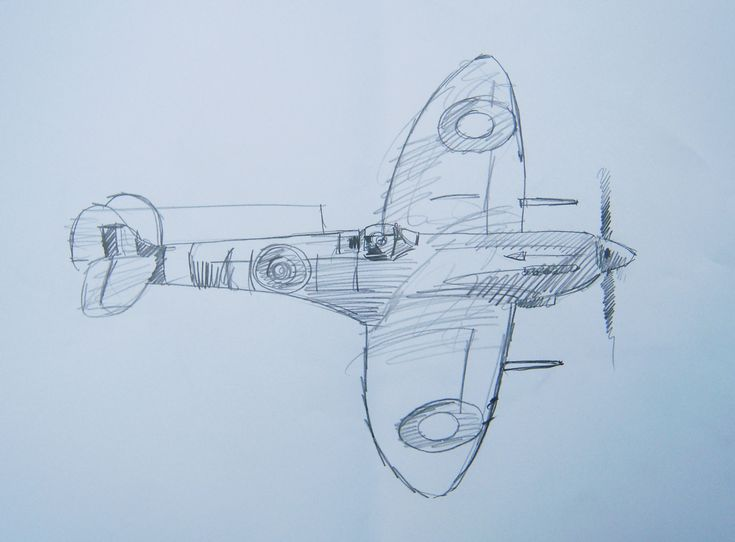 Spitfire Mk22 Sketch Battle Of Britain And Ww2 Drawings