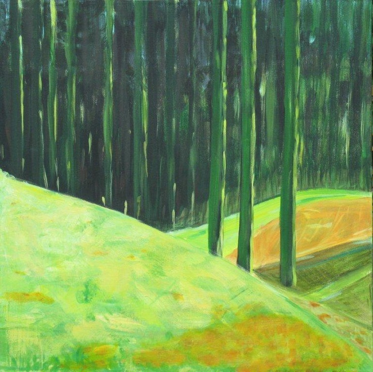 Pine Forest in the hills. April, 2011. 40x40. Acrylics on canvas.