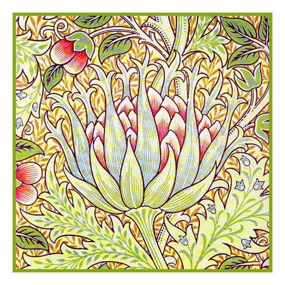 Free Shipping Morris's Artichokes Counted Cross by OrencoQuilts, $8.49