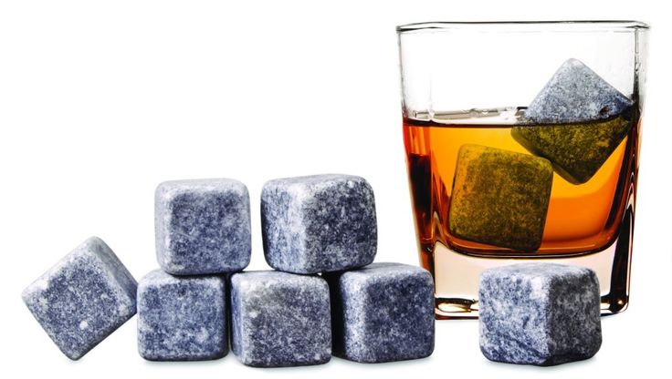 WHISKY STONES Cools your favourite spirit without diluting the flavours...  Uniquely shaped so they do not easily roll down your glass, the set includes nine Whisky Rocks, complete with storage pouch.  Cut from recycled soap stone or granite they are easy to use - just wash rocks and place them in the freezer for use anytime.  (Can be used with wine and other drinks.)