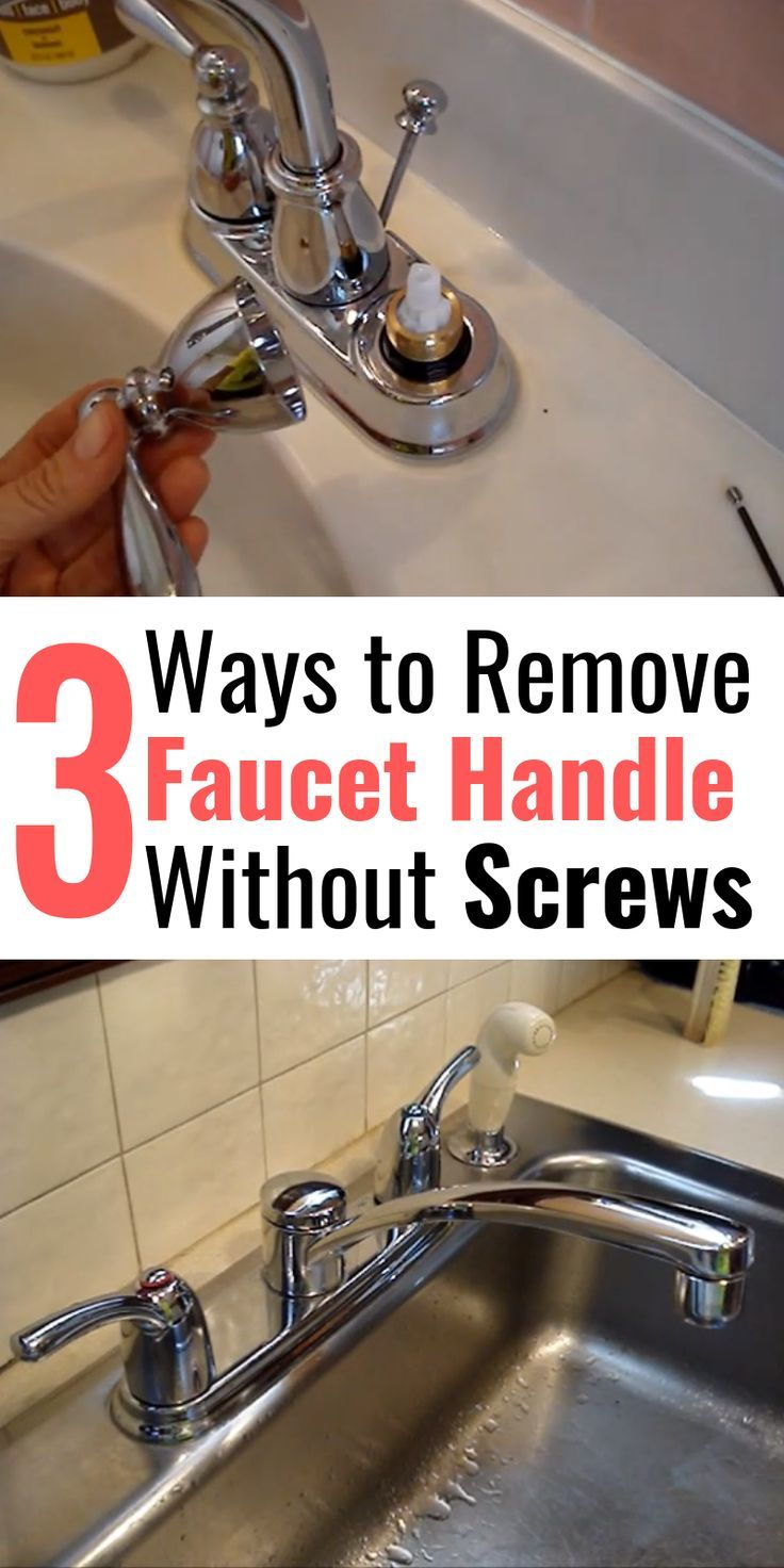 3 Ways To Remove Faucet Handle Without Screws Faucet Handles