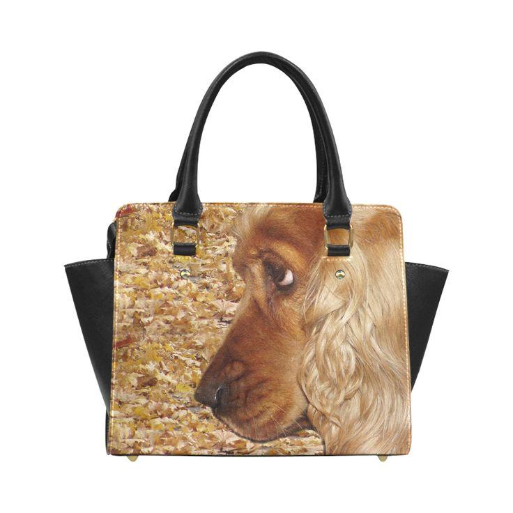 Dog Cocker Spaniel Classic Shoulder Handbag (Model 1653)
