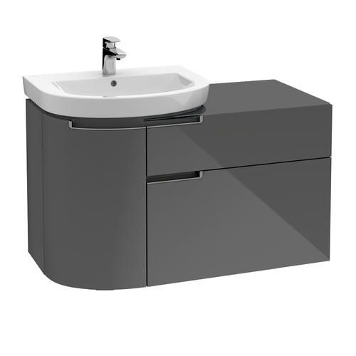 villeroy et boch subway 2 0 meuble sous lavabo ovale suspendu avec porte et double tiroir. Black Bedroom Furniture Sets. Home Design Ideas