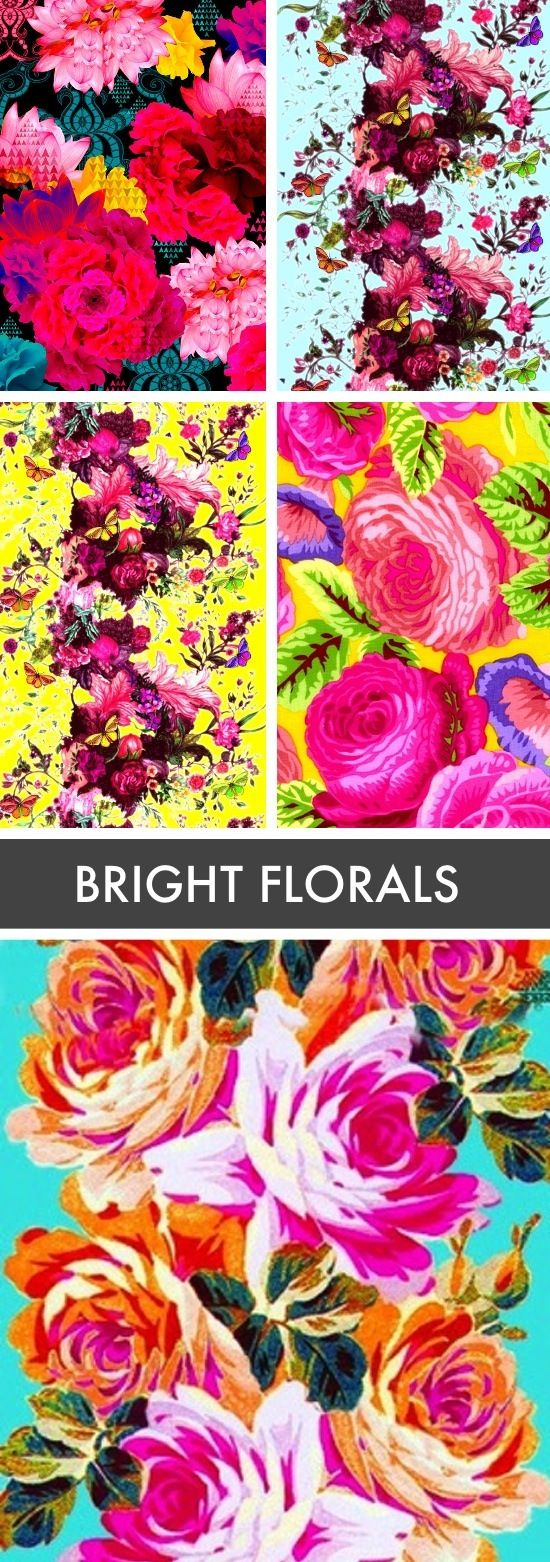 bright floral wallpaper would be amazing in a small bathroom with a crystal chandelier