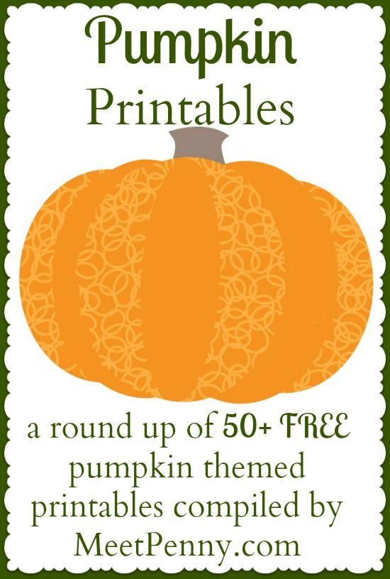 50+ free pumpkin printables and a bonus round up of some cute pumpkin activities | Meet Penny