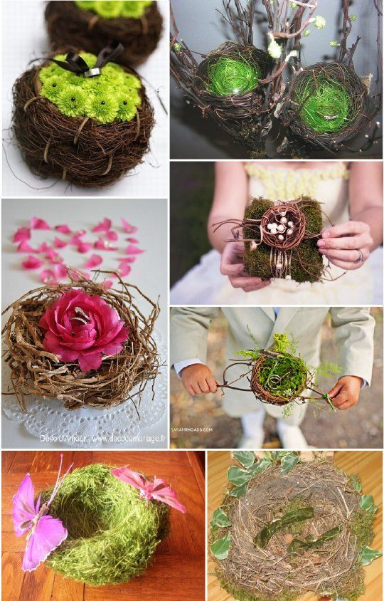 Porte alliance vegetal composition florale nid porte alliance pinterest - Porte alliances mariage ...