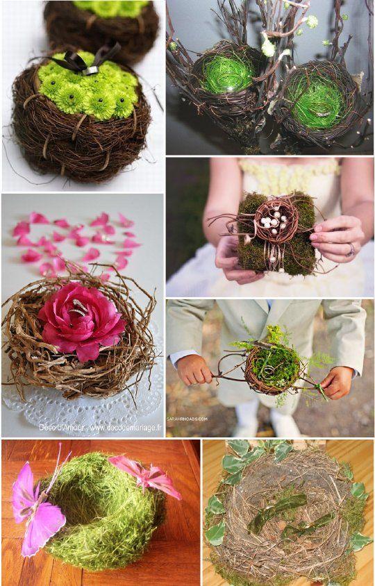Porte alliance vegetal composition florale nid porte alliance pinterest - Porte alliances mariage ...