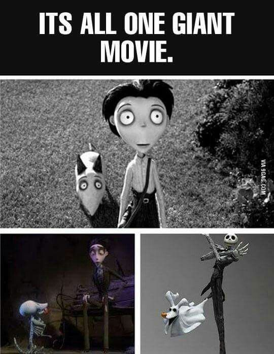 I've not seen the top movie yet. But I do love the Corpse Bride!