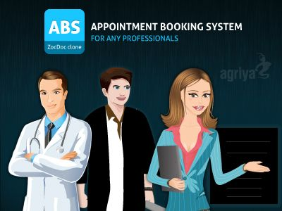 @Agriya Create an appointment booking system for doctors and dentist by using Agriya zocdoc clone - ABS  http://customers.agriya.com/products/zocdoc-clone
