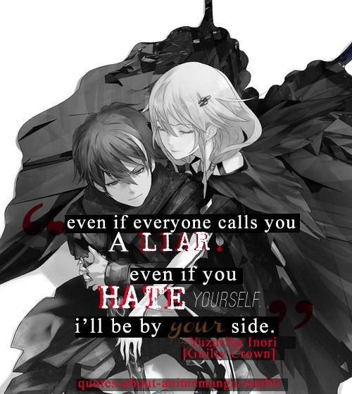 "Sad Boy Alone Quotes: ""I Belong To You Now."" -- Shu And Inori -- Guilty Crown"