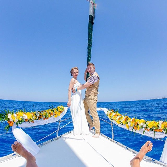#Traditional #Wedding in #Crete by boat! Photo credits: @chaltcev