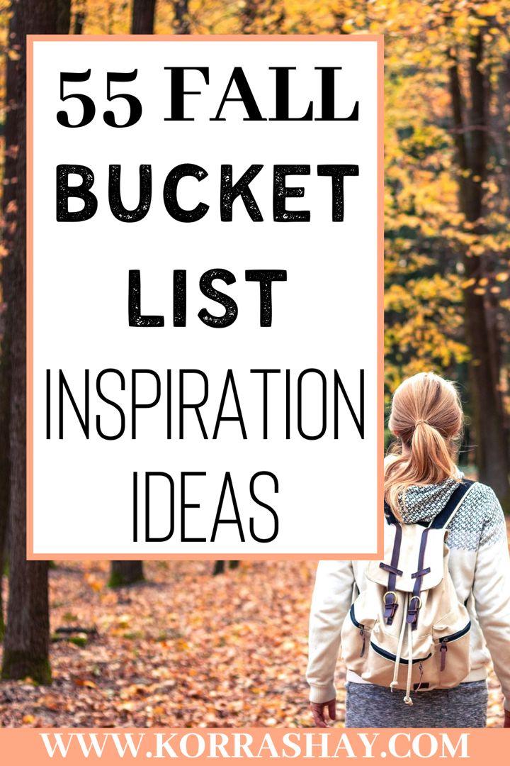 55 fall bucket list inspiration ideas! in 2020 Fall