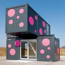 polka dot storage container home- I would live here!