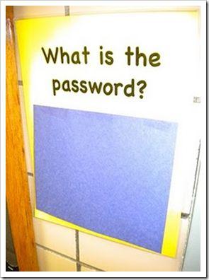 moeten dan het woord lezen ( wachtwoord) om binnen te komen..