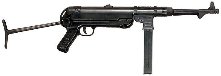 El MP40 (Maschinenpistole 40) fue un subfusil muy popular entre las tropas de la Alemania nazi durante la Segunda Guerra Mundial.3 Diseñado por Heinrich Vollmer, de Erma, con el fin de dotar a los soldados de un arma de asalto, principalmente a las unidades de infantería mecanizada y paracaidistas, se fabricó hasta el final del conflicto. Este subfusil destacaba en el combate a corta distancia pero era menos efectivo a campo abierto por su escaso alcance.