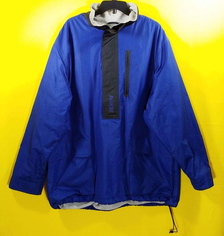 Nike Windbreaker Men's Pullover Cinch Tie Lined Size:XL Blue #Nike #Windbreaker