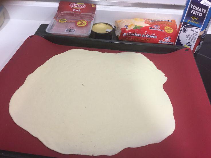 Pizza nueva Harina Bcn Receta express, ...