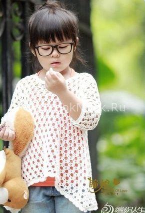 Ажурная туника на лето | Вязание для девочек | Вязание спицами и крючком. Схемы…