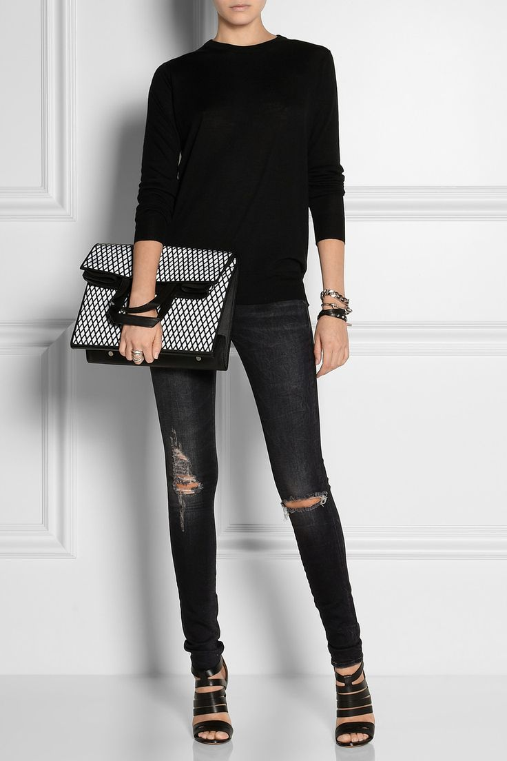 R13 distressed skinny jeans – Global fashion jeans collection