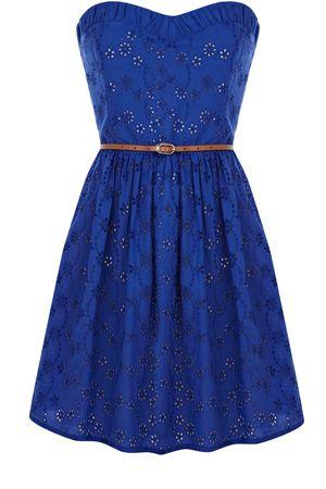 Blue Summer Dress: Women Fashion, Summer Dresses, Woman Fashion, Jeans Jackets, Color, Cute Dresses, Royals Blue, Bandeau Dresses, Cowboys Boots
