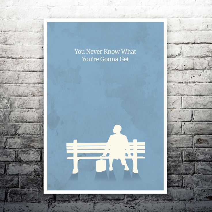 You Never Know What You're Gonna Get Forrest Gump movie poster print by MyCustomPrints on Etsy