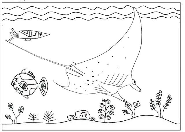 Great Best Stingray Coloring Page
