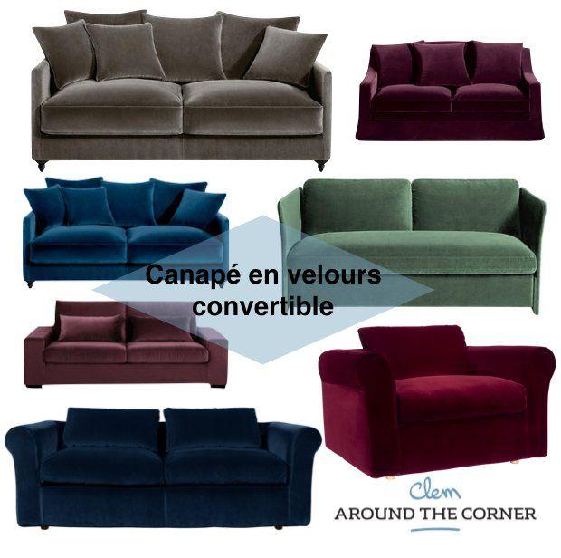 Supérieur Canape Convertible Velours #9: ... Superior Canape Convertible Velours #12: Canapé En Velours, Tendance  Déco - Blog Déco ...
