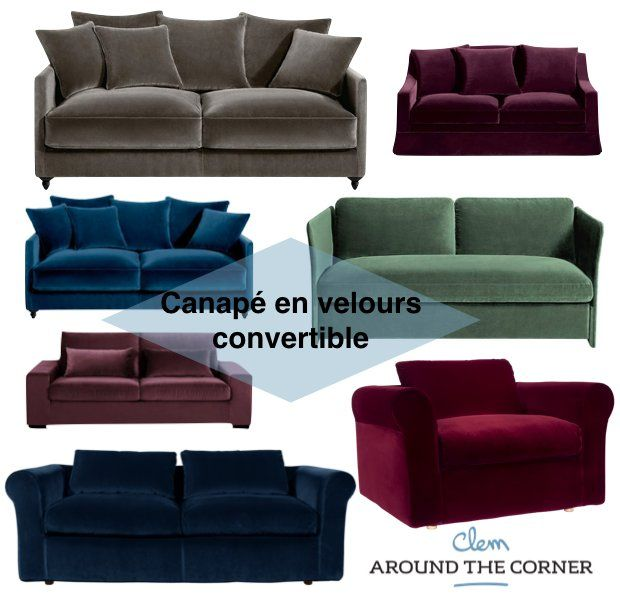 25 best ideas about canap de velours bleu sur pinterest canap en velours - Beau canape convertible ...