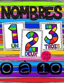 Number Posters in French! Anchor charts for your classroom to support language…