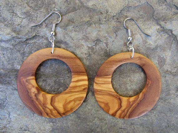 1 Paar Edelstahl Creolen Ohrringe OVAL 5cm 4,5cm