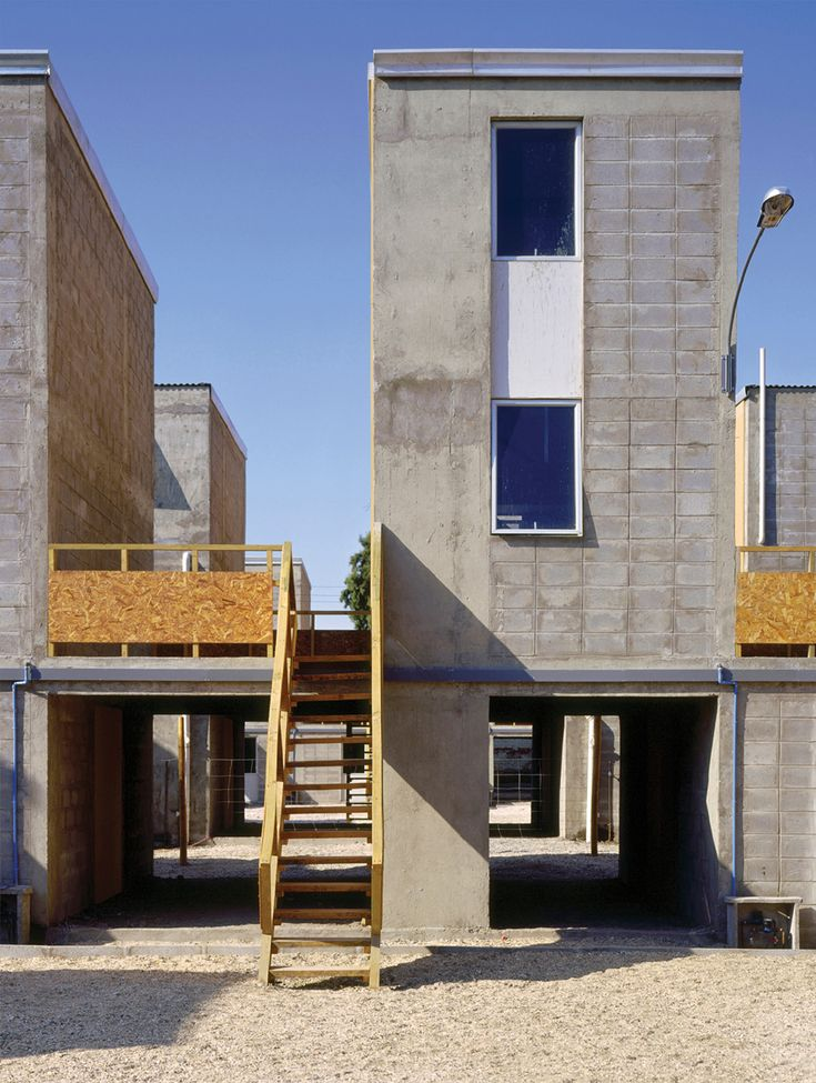 Quinta Monroy Housing, Iquique, 2004 / architect Alejandro Aravena