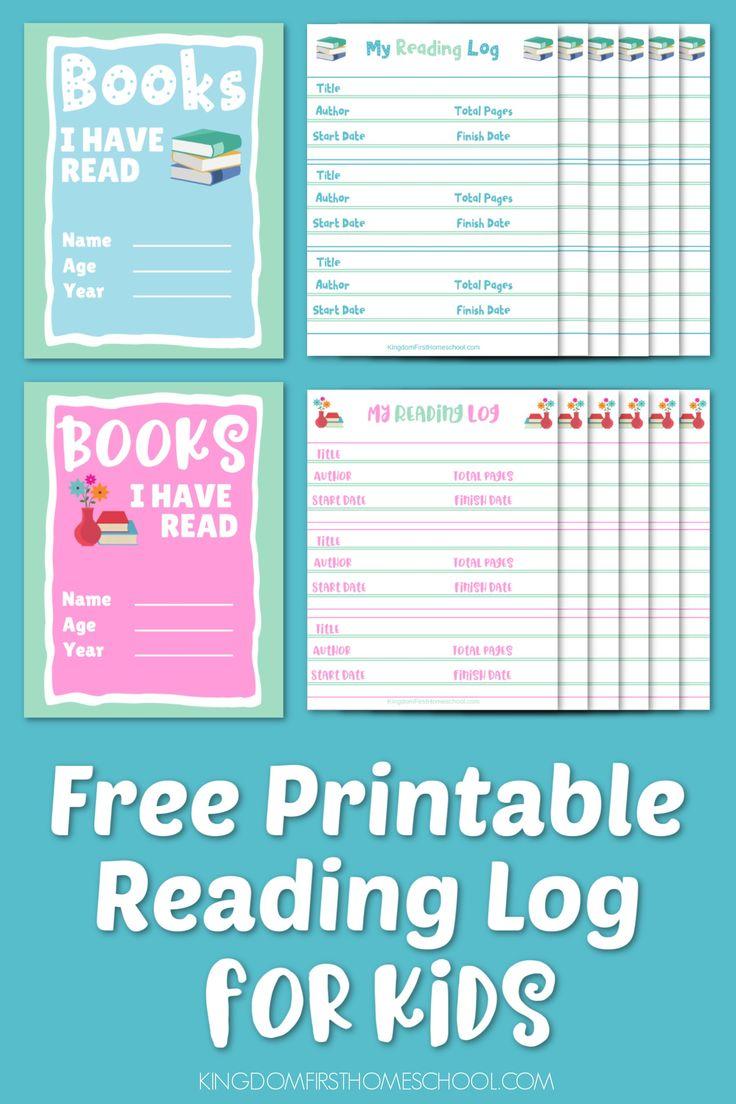 Free Printable Reading Log Book for Kids Reading log