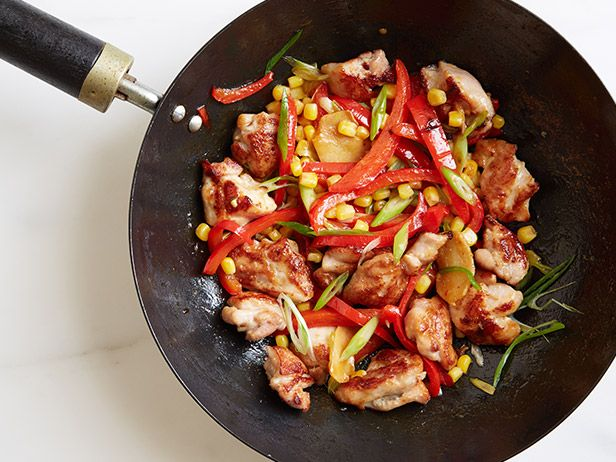Chicken, Pepper and Corn Stir-Fry: Food Network, Peppers, Healthy Dinners, Healthy Eating, Recipes, 10 Healthy, Corn Stir Fries, Corn Stirfri, Stir Fry