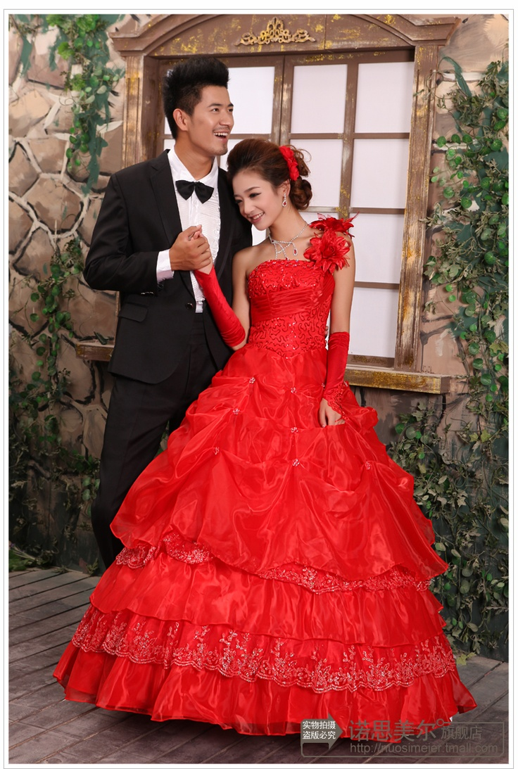 2012-rode-trouwjurk-een-schouder-tube-top-van-de-bruid-trouwjurk-formele-kleding-bladerdeeg-rok