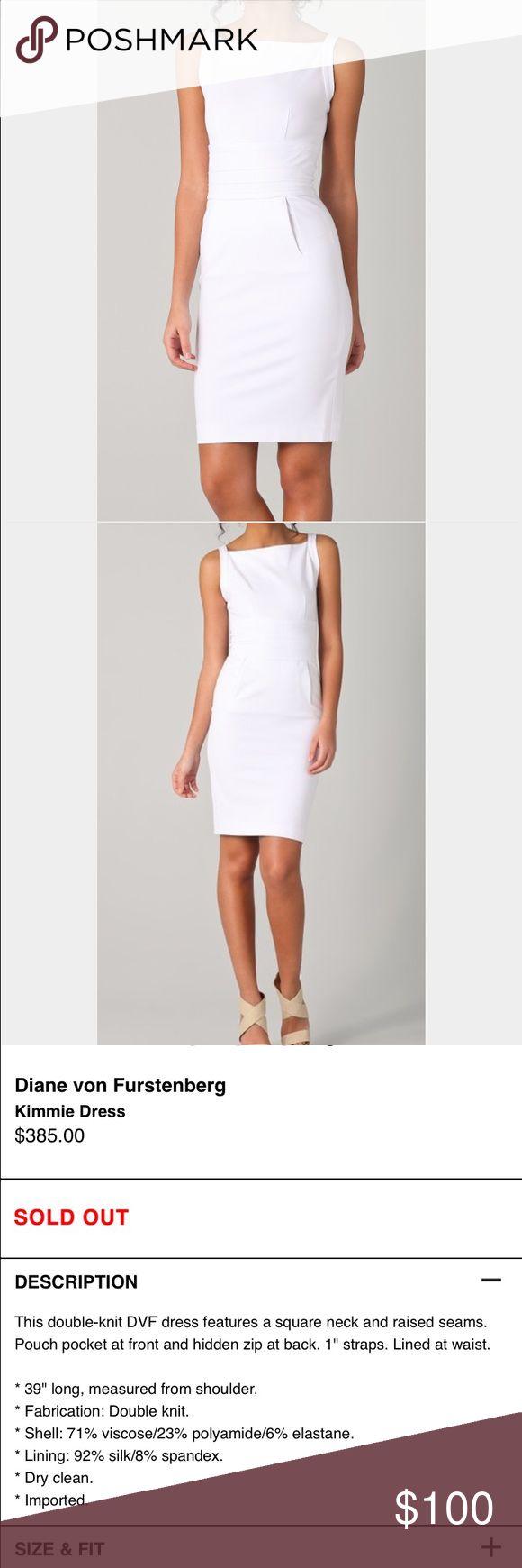 NWT Diane von Furstenberg Kimmie White Dress Sold out everywhere! New with tags for $348! Diane von Furstenberg Dresses