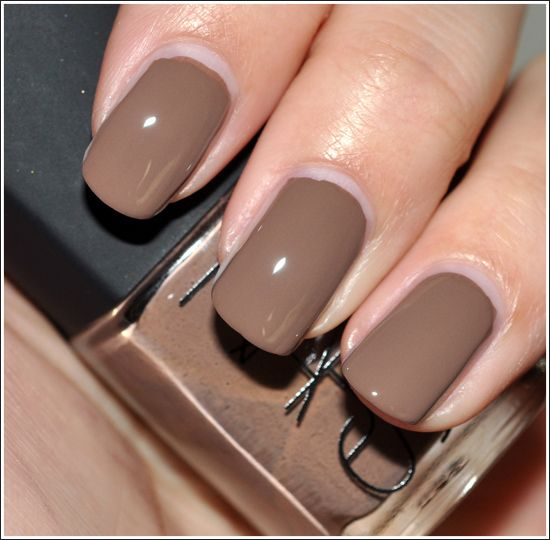 Mocha colored nail Polish is pretty.
