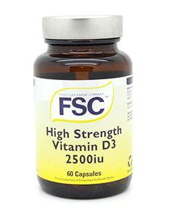 Fsc High Strength Vitamin D3 2500iu - 60 Capsules  Offer Price £3.75 20% (Off)
