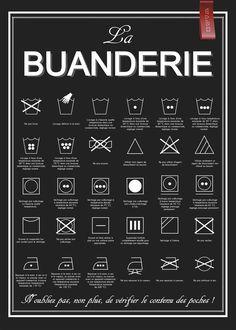 Affiche La Buanderie - à télécharger, à imprimer : Affiches, illustrations, posters par affiche-rgb4you