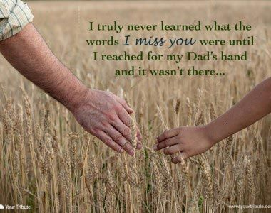 Loss of Father | Quotes - Your Tribute