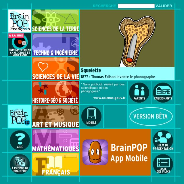 Site éducatif proposant des centaines de films d'animation