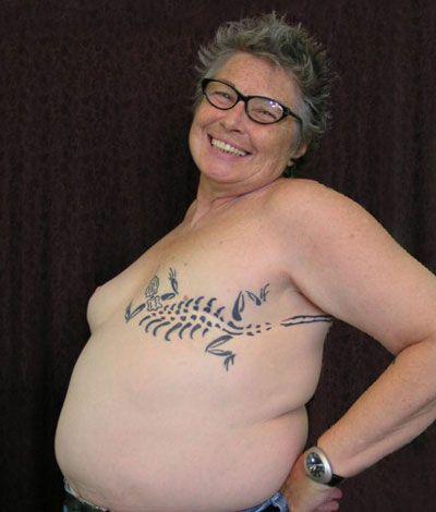 Cancer survivor tattoos survivors tell their stories for Breast cancer face tattoos walmart