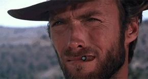 I can't stop watching this gif with Clint Eastwood and a cat. : see