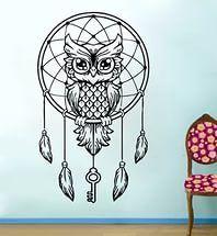Рисунок совы для татуировки.