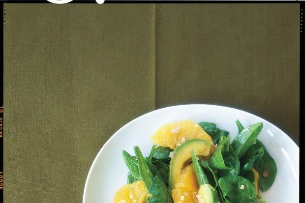 Asian Spinach Salad with Orange and Avocado / Lisa Hubbard