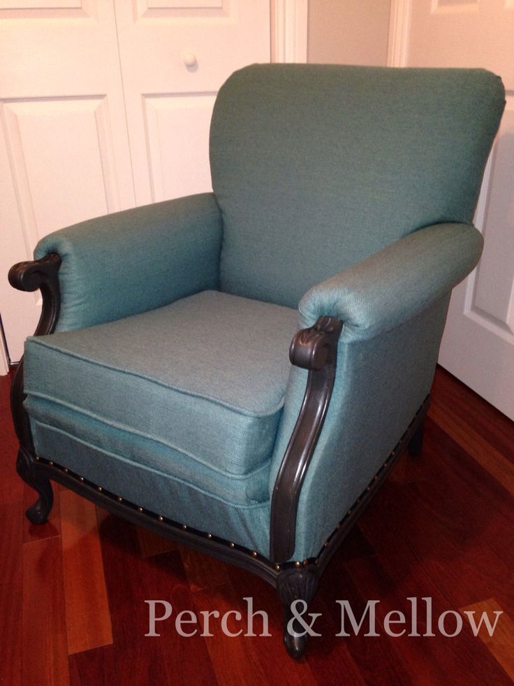 Reupholstered with Copenhagen Teal fabric from www.tonicliving.com