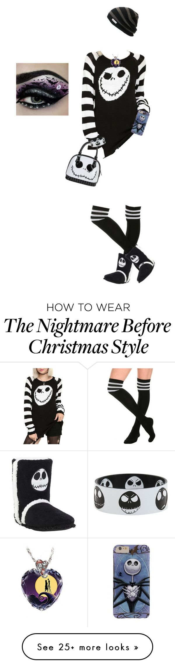 """Jack Skellington // Nightmare Before Christmas"" by meep13 on Polyvore featuring The Bradford Exchange, jackskellington and Thenightmarebeforechristmas"