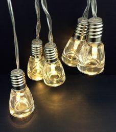 Valosarja, 10 pulloa, kylmä valkoinen; Crystal Decors | Rellunkulma.fi verkkokauppa